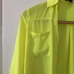 Express Tops - Yellow button up top